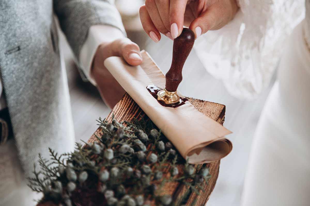 Siegelstempel für die Hochzeit